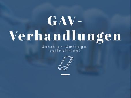 GAV-Verhandlung: Deine Meinung ist gefragt!