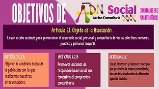 Objetivos Generales ADN Social Acción Comunitaria