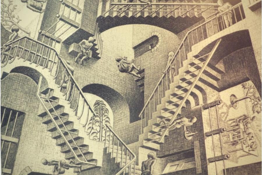 Escher_Litografia_Relatividade_1953