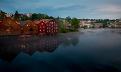Trondheim // Nidelva i tåke
