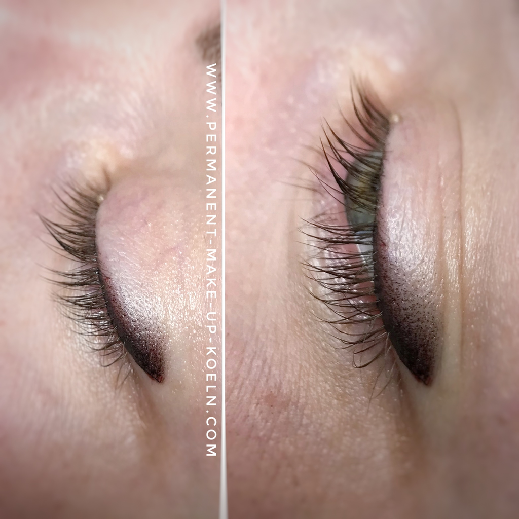 Permanent Make Up Lidstrich Mit Lidschatten Effekt