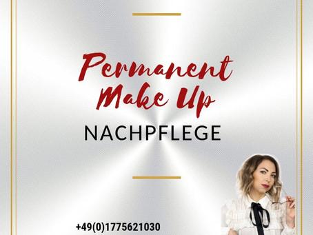 Permanent Make Up Nachpflege