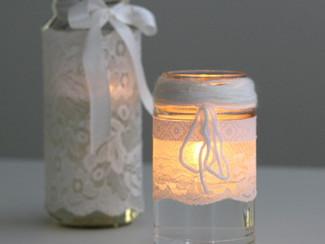 Como fazer uma lanterna delicada e cheia de renda