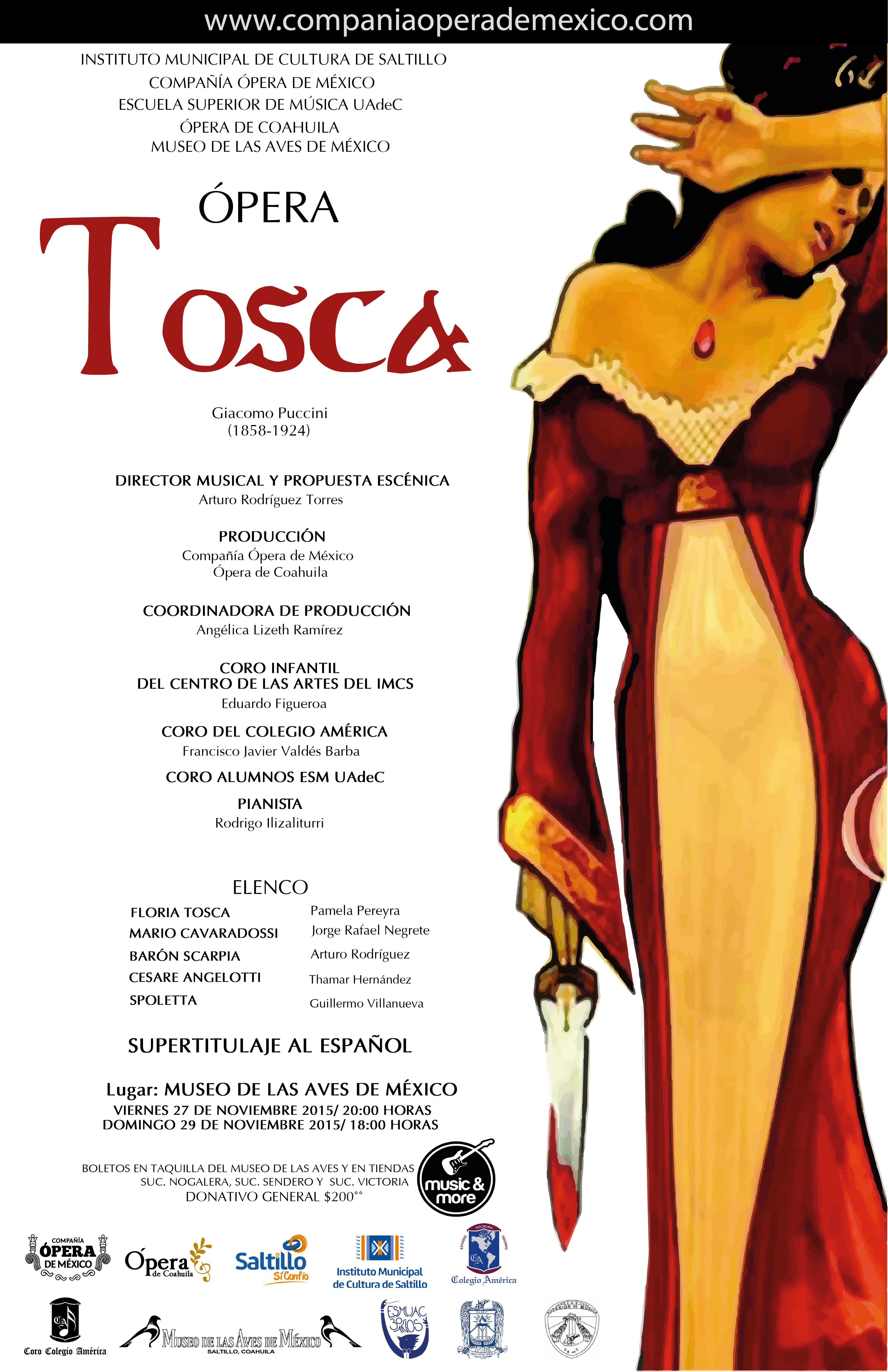 """Ópera """"Tosca"""" SALTILLO, COAHUILA"""
