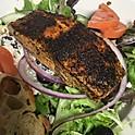 Greek Salad w/Blackened Salmon
