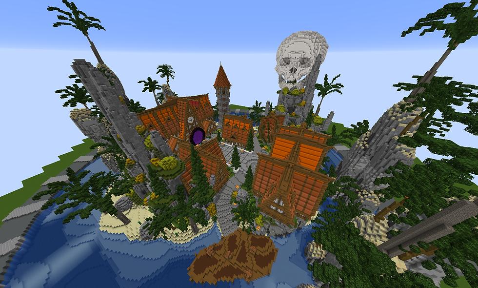 Orange Tropical Island