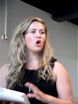 Kate in Rehearsal