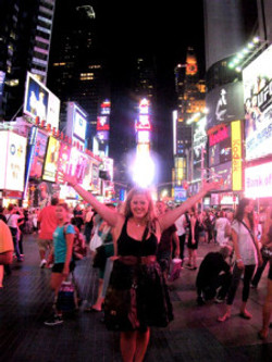 Kate in Times Square, New York