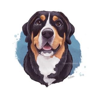 Custom digital pet illustration