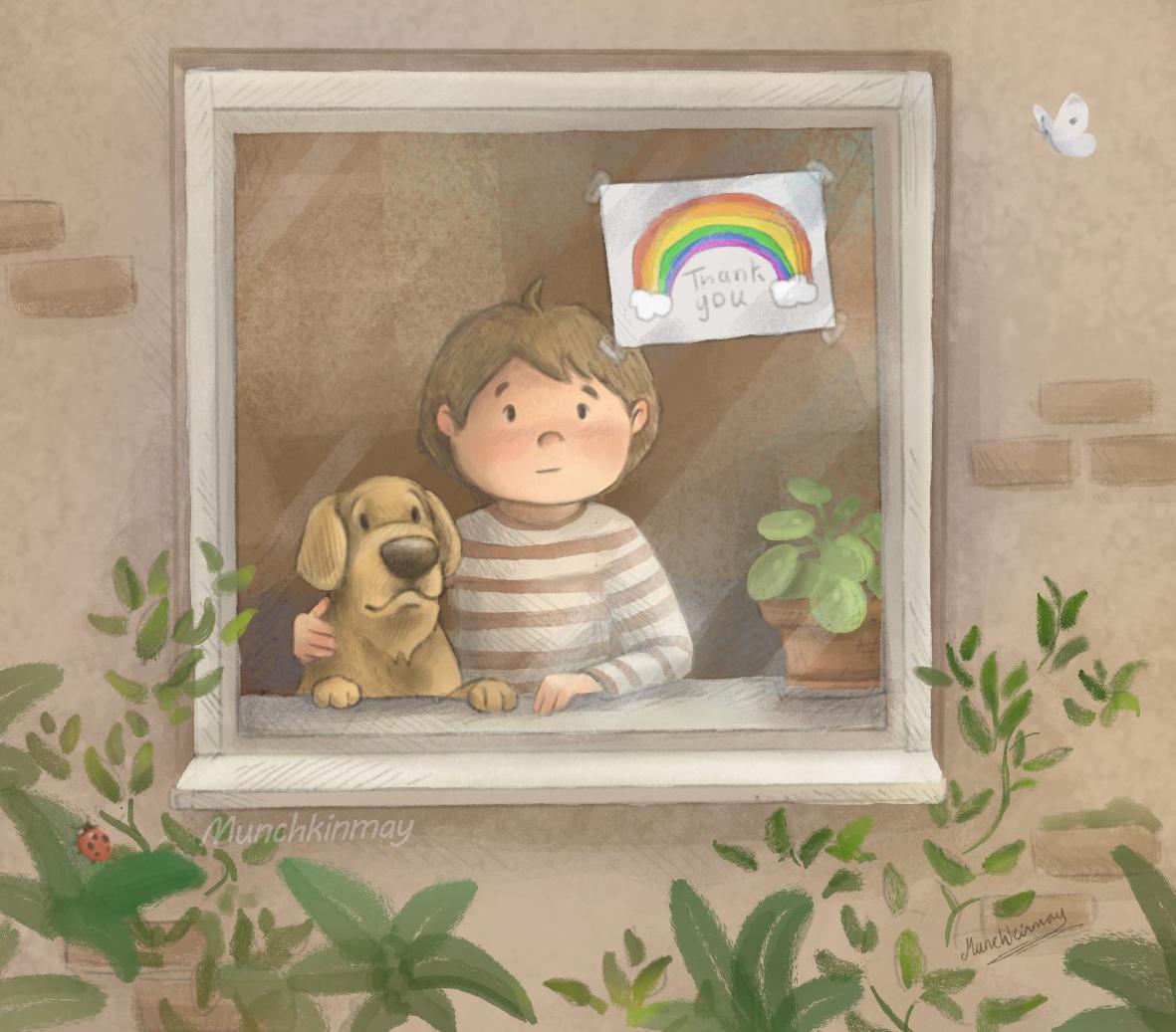 Rainbow on the window