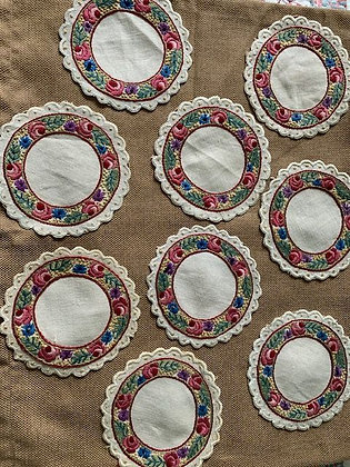 Embroidered Rounds #3 SOLD