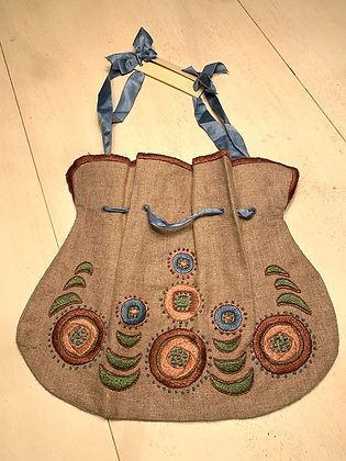 Embroidered Drawstring Purse#1  SOLD