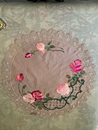 Large Embroidered Round #3