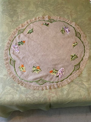 Embroidered round #7.