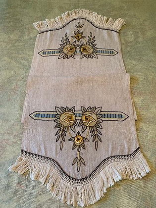 Floral Embroidered Runner #17