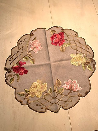 Rose Embroidered Round#1