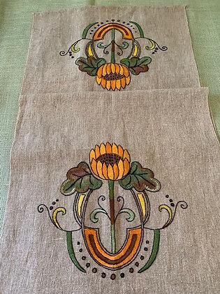 Linen Sunflower Runner #23 SOLD