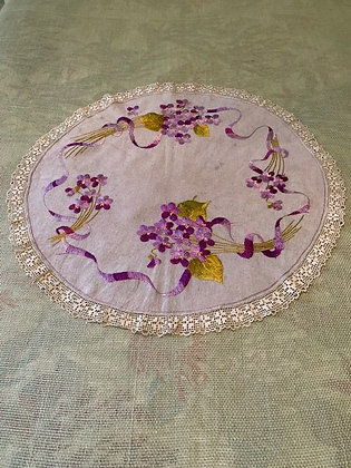 Embroidered Violet Round #4