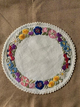 Embroidered round #4