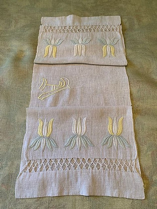 Embroidered Floral Runner #18