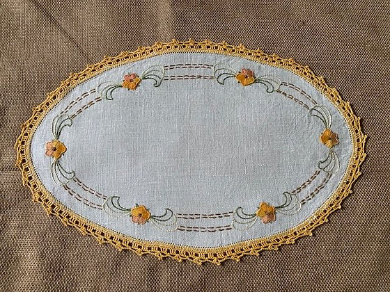 Embroidered Ovals Two. #1
