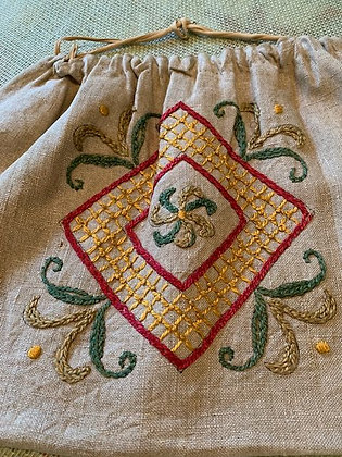 Linen Draw String Bag#10