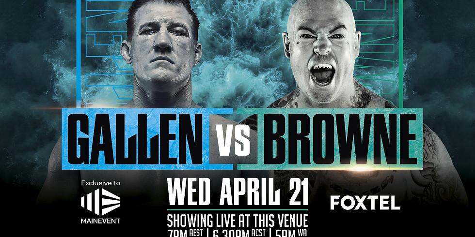 Boxing: Gallen Vs Browne
