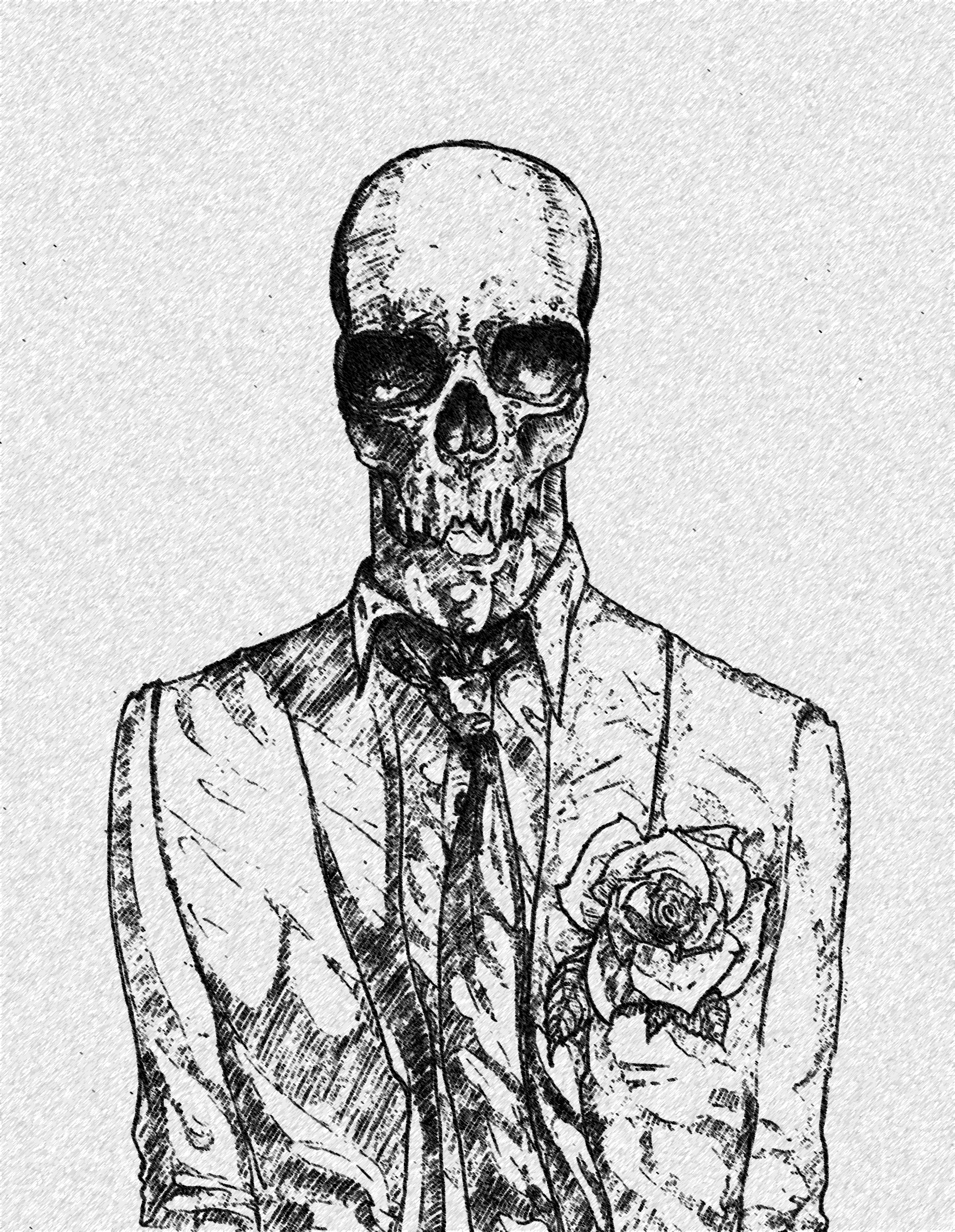 Skull in a Suit