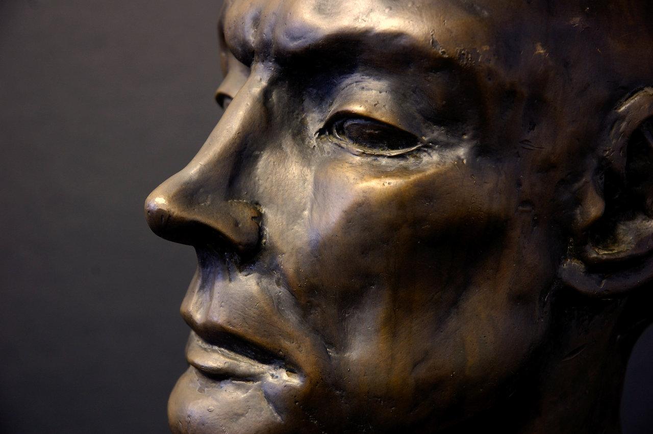 Bronze Bust side
