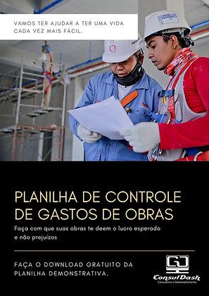 Planilha de Controle de Gastos de Obras V3.000