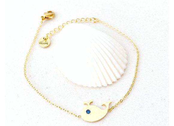 "Pulsera ""Whale-Gold"""