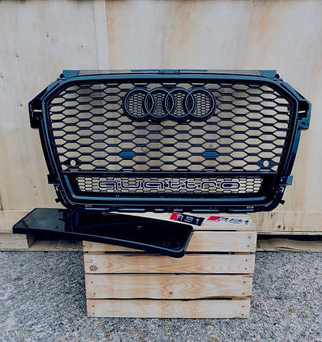 AUDI RS1 Style Gloss Black Quattro Honey Comb Grille