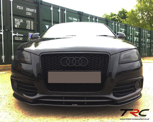 audi a3 8p s line fl front splitter triplercomposites. Black Bedroom Furniture Sets. Home Design Ideas
