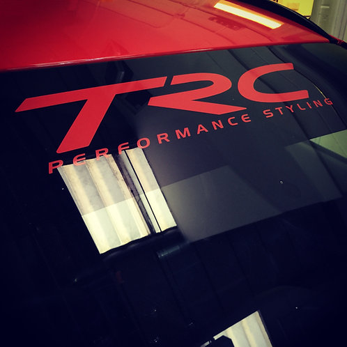 TRC performance styling sun strip sized vinyl