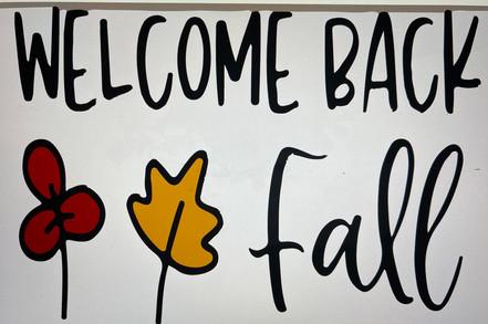 Welcome Back Fall