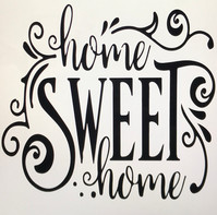 Home Sweet Home with Scrolls
