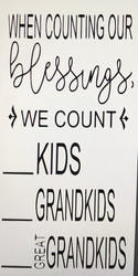 When counting our blessings