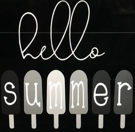 Popsicle Hello Summer