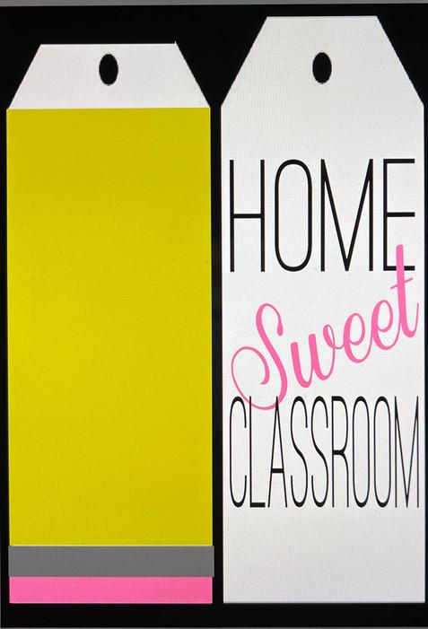 Home Sweet Classroom Door Tags
