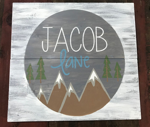 Boy's Name with Mountains