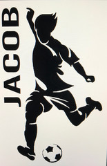Soccer player with name
