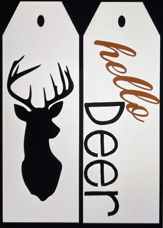 Hello Deer Door Tags