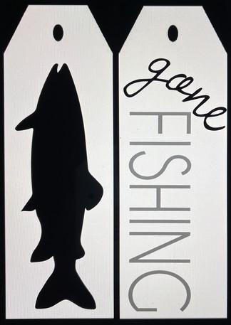 Gone Fishing Door Tags