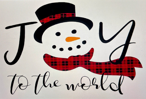 Joy to the World with Snowman