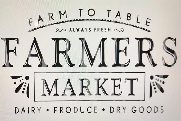 Farmers Market- Farm to Table