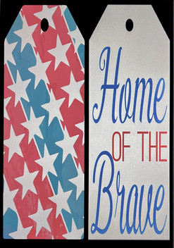 Home Of the Brave Door Tag