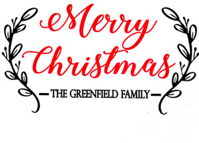 Merry Christmas Card Holder