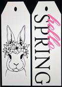 Hello Spring Door Tags