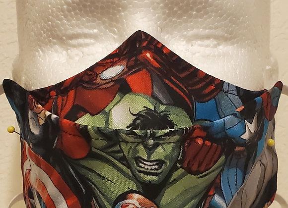 """Marvel Avengers """"No Fog"""" face mask"""