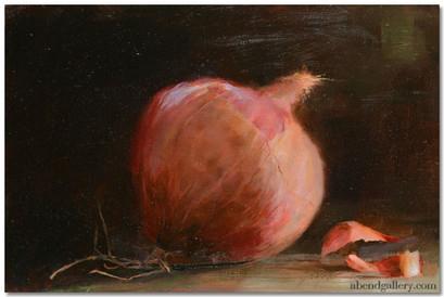 Peeling Red Onion